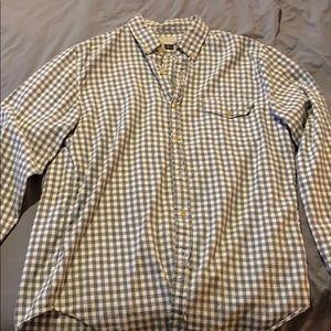 J Crew Flannel Button up shirt M